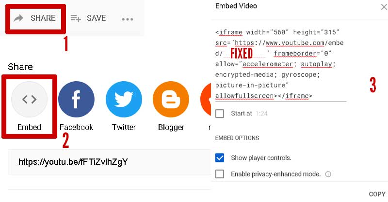 All step to embed YouTube playlist on webpage