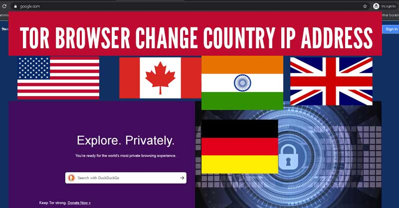 How to set a specific country in a tor browser