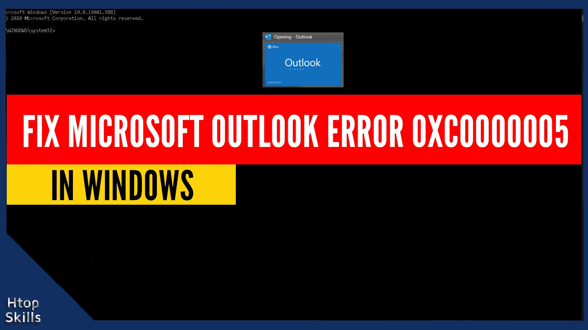 How To Fix Microsoft Outlook Error 0xc0000005