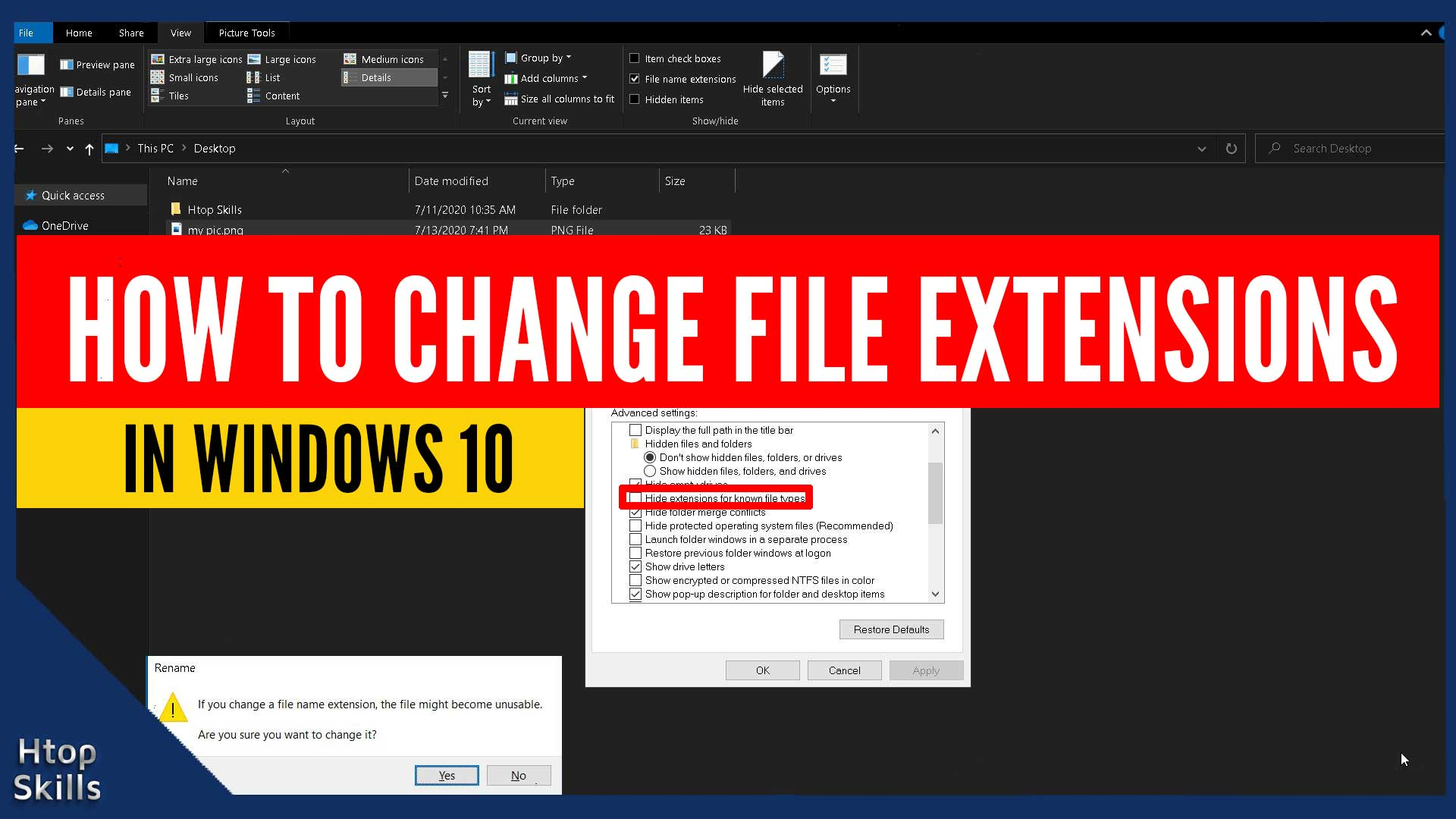 How to Change File Extensions in Windows 10