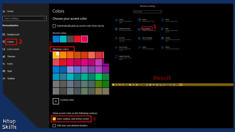 How to change taskbar color on Windows 10