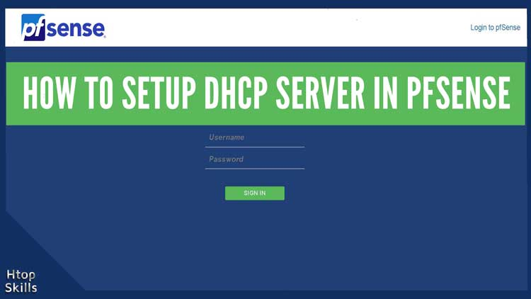 How to configure DHCP server in pfsense