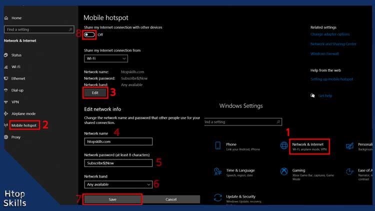 How to create hotspot on Windows 10
