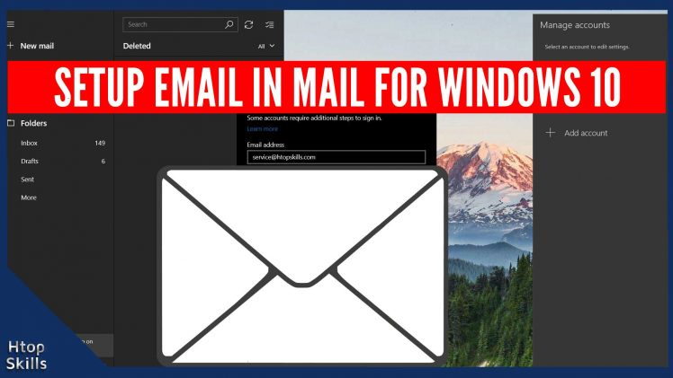 How to setup email in Mail for Windows 10