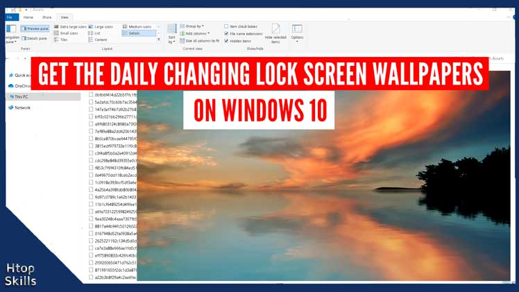 Get the daily changing lock screen image on Windows 10