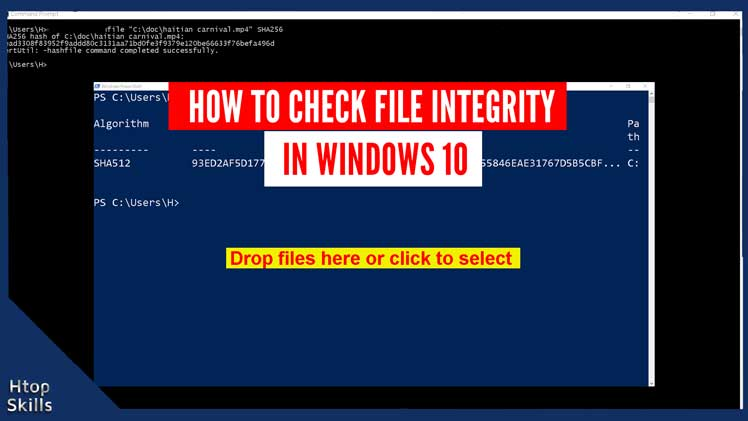 How to check file integrity in Windows