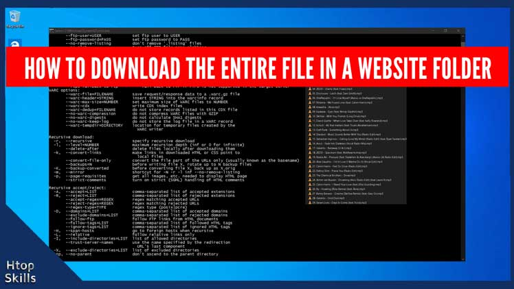 How to download the entire file in a website folder