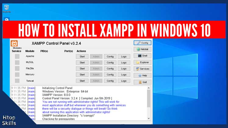 How to install XAMPP in Windows 10