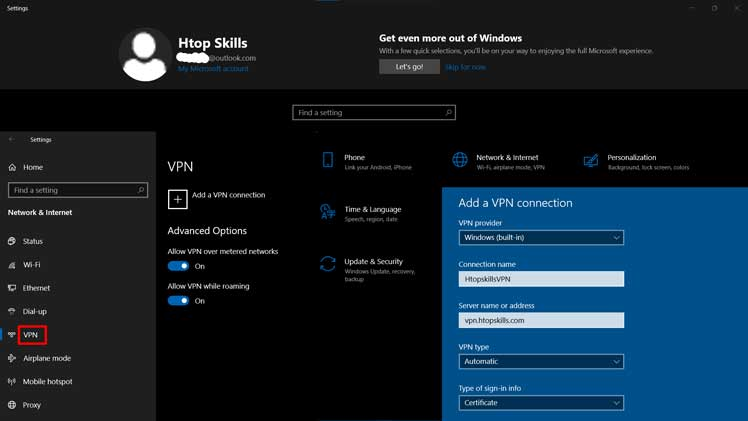 How to set up a VPN connection on Windows 10