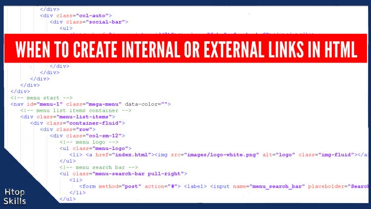 When to create internal or external links in html